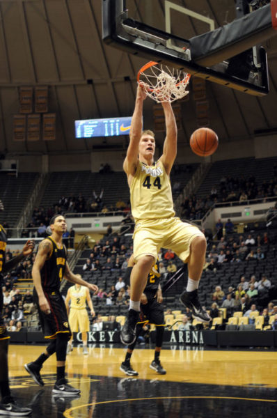 Isaac Haas is now the main man in the pivot for Purdue with the graduation of AJ Hammons. (Edwin Jacobson, Purdue Exponent)