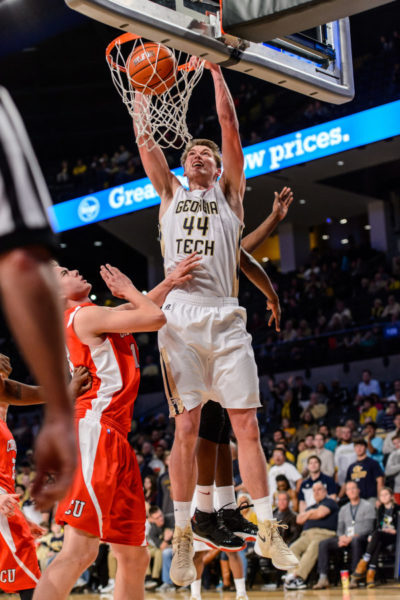 Junior Ben Lammers needs to be productive in the paint this year for Georgia Tech to compete with other ACC front lines. (Photo: ramblinwreck.com)