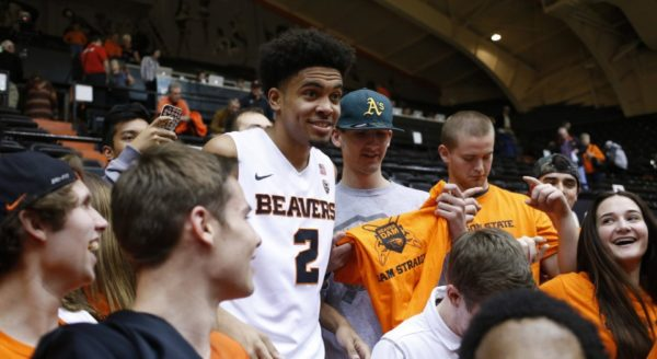 Stevie Thompson Jr. Is Now The Big Man on Campus in Corvallis (AP Photo/Timothy J. Gonzalez)