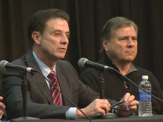 Louisville's Rick Pitino and Tom Jurich plan to fight the Level One allegation against the Cardinal's Head Coach. (Photo: WHAS11)