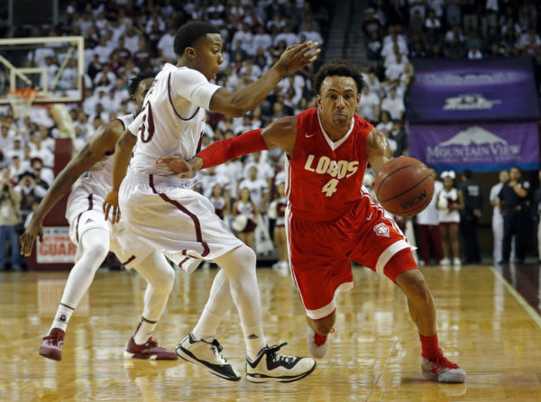 New Mexico's Elijah Brown knows how to get to the bucket. (AP Photo/Andres Leighton)