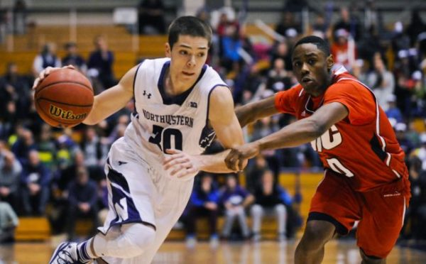 Bryant McIntosh has struggled at times as the lead guard for Northwestern. (AP).
