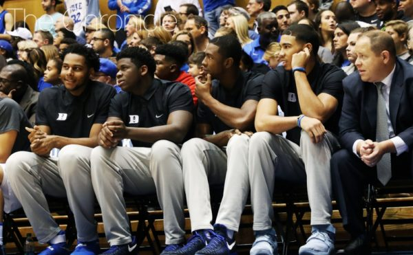 Three Potential NBA Lottery Picks are not currently on the court for Duke. (Juan Bermudez / The Chronicle)