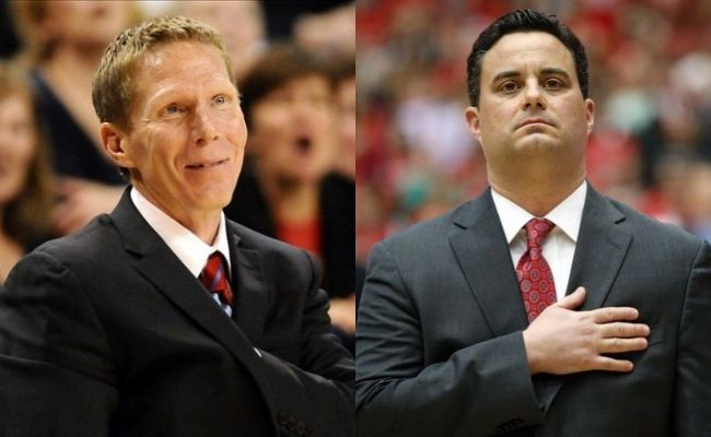 Mark Few vs. Sean Miller. Talk about a big-time coaching matchup. (Getty)