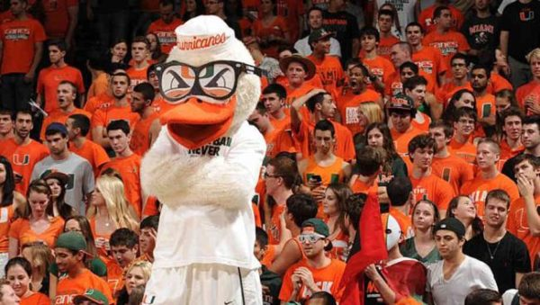 Although they are known for their support on the gridiron, Miami fans have a say on the basketball court, too. (AP)
