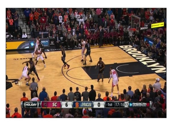 South Carolina's guards play relentless defense on the perimeter.