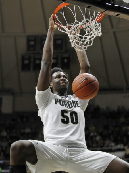 Caleb Swanigan has a chance to wreak havoc in the paint in the Crosstown Classic against a smaller Notre Dame team. (AP).