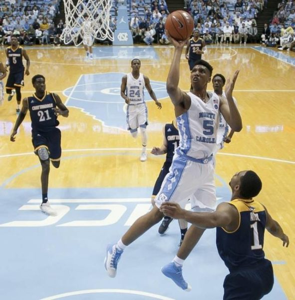 Freshman big man Tony Bradley has been impressive in his first two games for North Carolina. (Robert Willett/newsobserver.com)