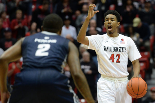 San Diego State has two big chances against #14 Gonzaga and California. (Jake Roth-USA TODAY Sports)