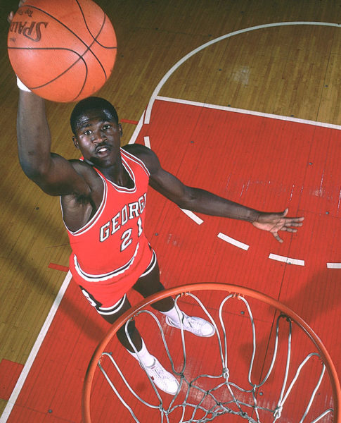 Dominique Wilkins put Georgia basketball on the map in the early 80's with his relentless athleticism and thunderous dunks. (SI)