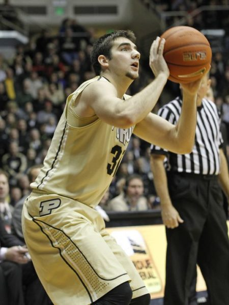 Dakota Mathias has been one of the best deep shooters in the B1G this season. (John Terhune, Journal &Courier).