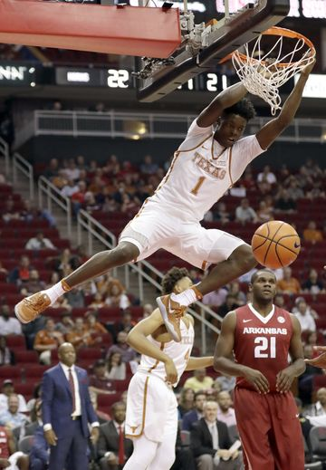 Texas freshman Andrew Jones had his best all-around game (17 points, seven assists) in the team's losing effort. (David J. Phillip/Associated Press)