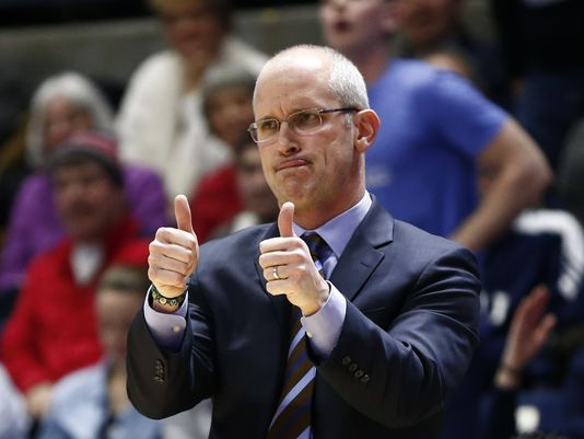 Rhode Island head coach Dan Hurley is searching for his first NCAA Tournament in his fifth season in Kingston. (USA Today Sports)