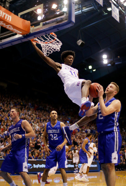 I doubt a better picture of KU super freshman Josh Jackson in the known universe. (Jamie Squire/Getty Images)