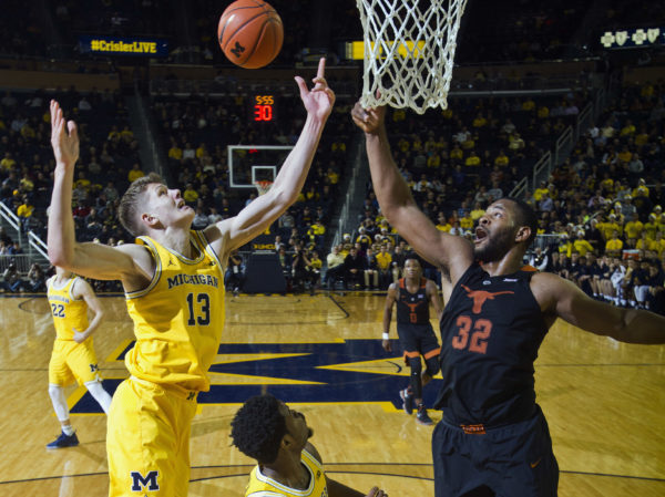 Forward Moritz Wagner was instrumental in Michigan's win on Tuesday (AP Photo/Tony Ding)
