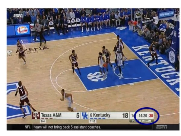 Fox grabs the rebound and takes off.