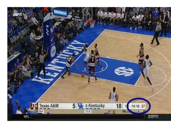 Fox takes on three Aggies and finishes the play at the free throw line in four seconds.