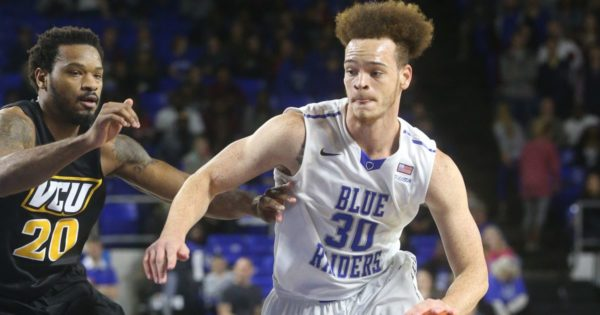 Reggie Upshaw scored 34 points again UAB on New Year's Day—a great sign for the Blue Raiders. (Photo: HELEN COMER/DNJ)